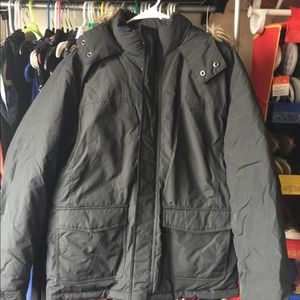 american rag winter coat mens bubble black jacket